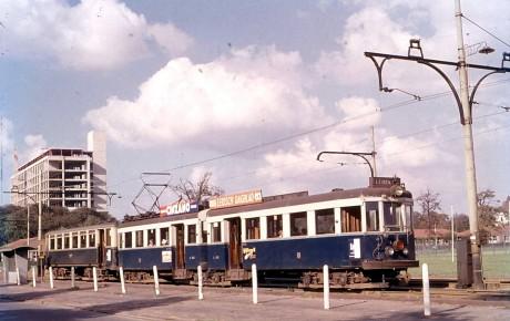 Reconstructie van de legendarische Blauwe Tram door de Stichting De Nieuwe Blauwe Tram